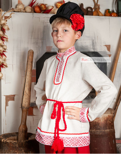 Slavic costume boy