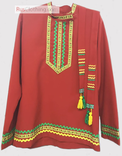 Traditional cotton Russian shirt ''Ruslan''