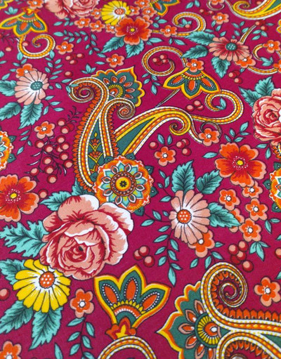 Russian shawl fabric