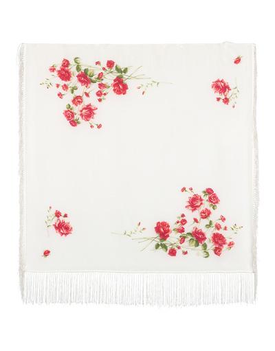 Silk shawl ''Roses under snow''