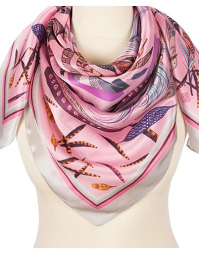 Silk shawl ''Feathers''