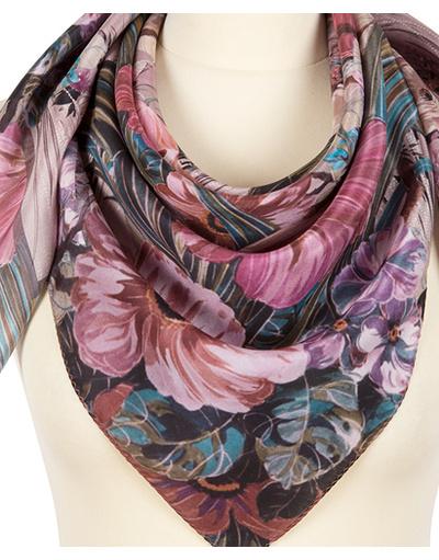 Silk shawl ''Pastel flowers''