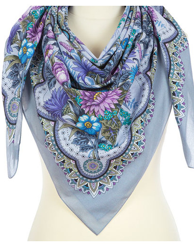 Cotton shawl ''Blooming Summer''