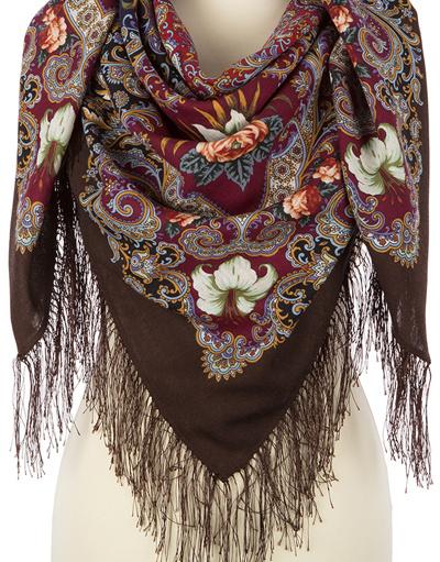 Wool shawl ''Summer night fairy tales''