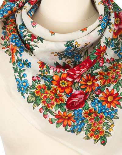 Headscarf ''My little garden''