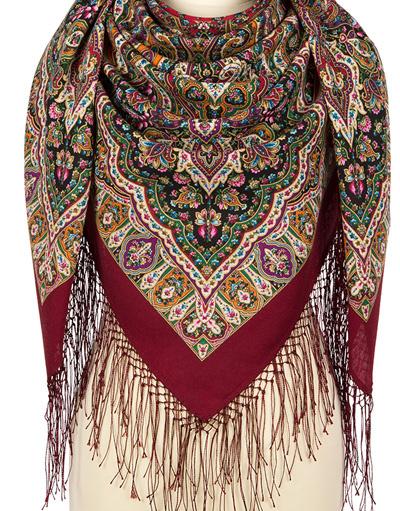 Wool shawl ''Dogrose''