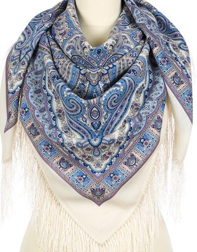 Wool shawl ''Silk herbs''