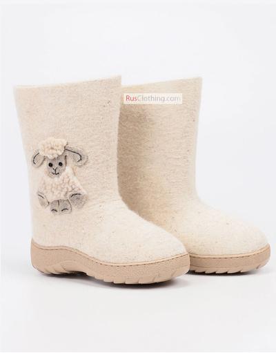 Cute felt boots kids