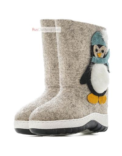 Kids valenki Penguin