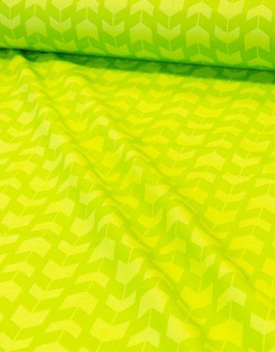 {[en]:Cotton fabric ''Arrows-stripes on green''}