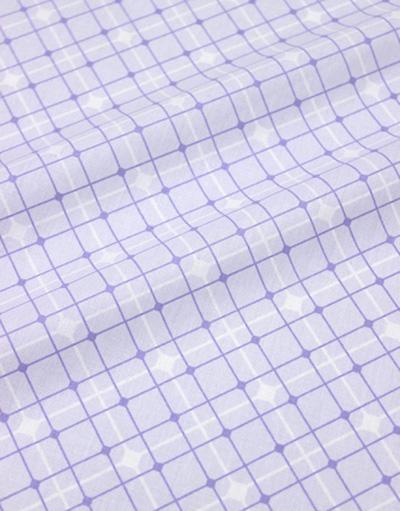 {[en]:Cotton percale ''Lilac grid''}