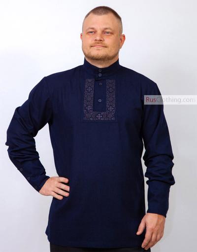 natural linen kosovorotka shirt