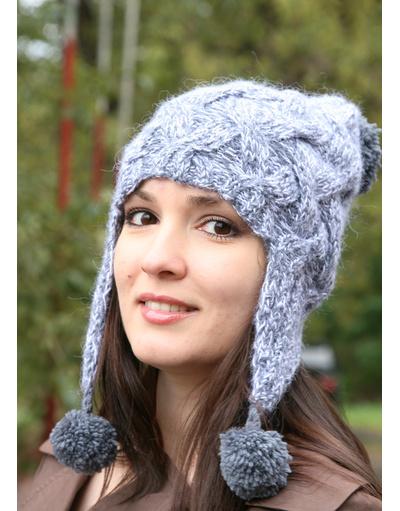 Eraflap hand knit hat