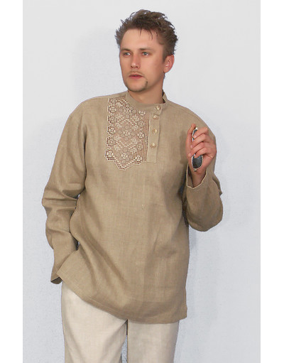 embroidered linen shirt