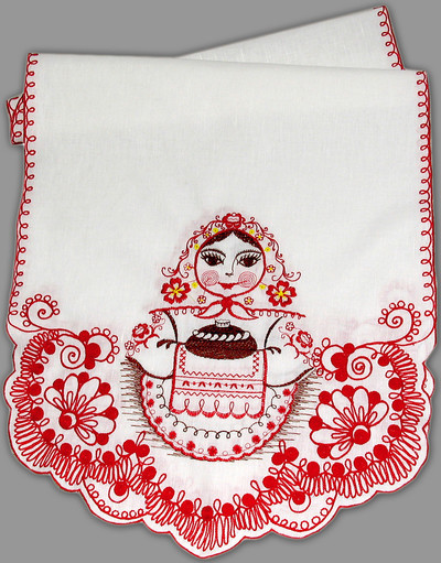 matreshka wedding towel