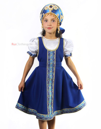 Elena girl sarafan dress