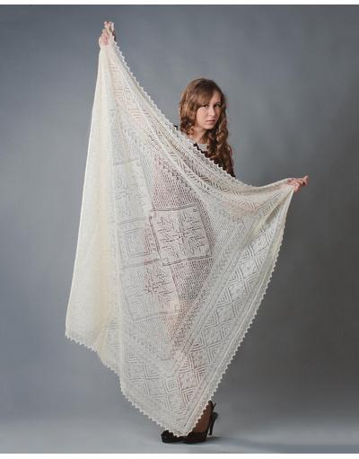 Orenburg shawl ''Dikovinka''