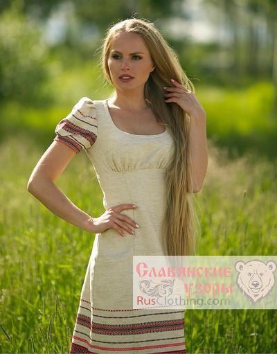 slavic boho dress