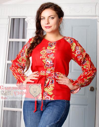 Peasant linen blouse