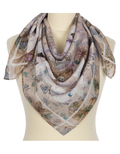 Silk shawl ''Crystal sound''