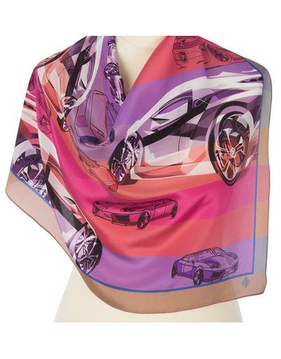 Silk scarf ''Racing''
