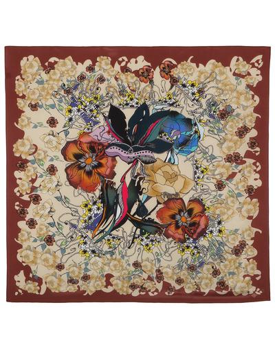 Silk shawl ''Brown Rhapsody''