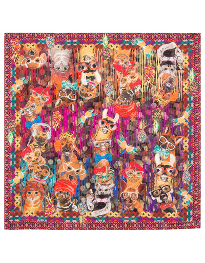 Silk shawl ''Pets''