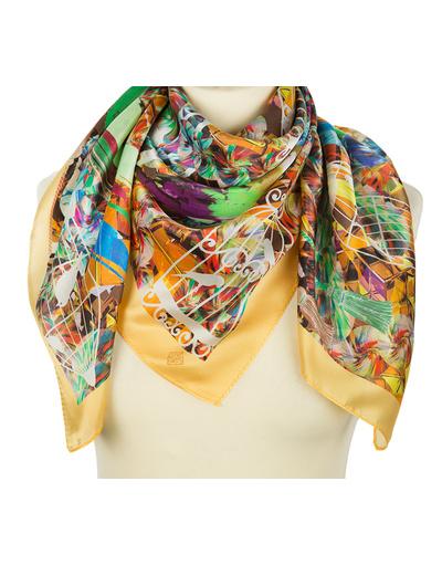 Silk shawl ''Bright Birds''