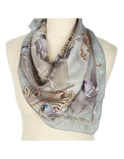 Silk scarf ''Flowering''