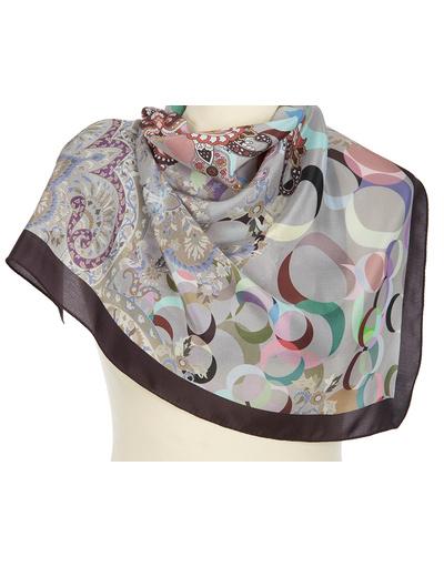 Silk scarf ''Rings''