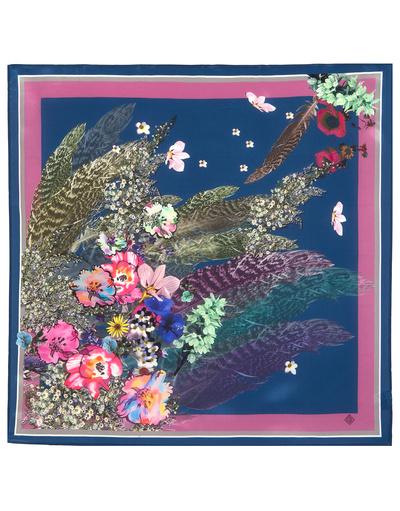 Silk scarf ''Feathers Fantasy''