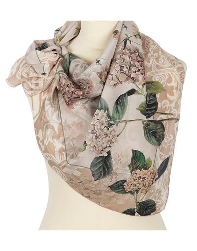 Silk shawl ''Hydrangeas''