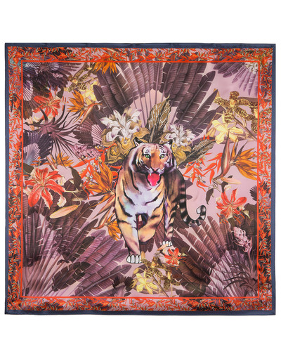 Silk shawl ''The tiger''
