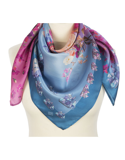Silk shawl ''Rose Sailboat''