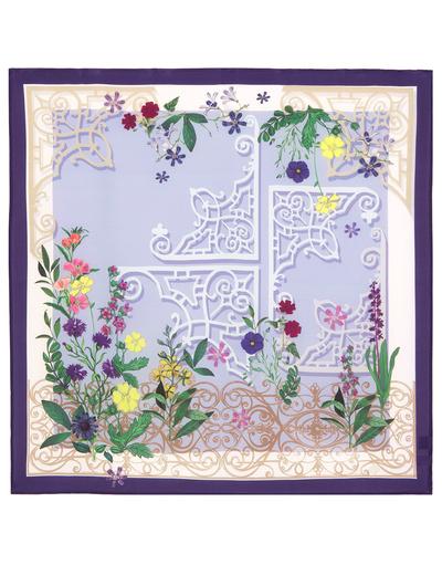 Silk scarf ''Flower garden''