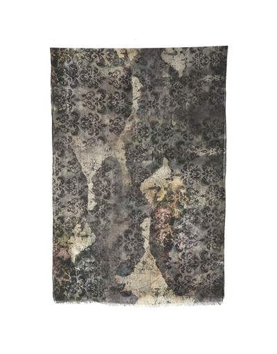 Shawl Wrap ''Black patterns''