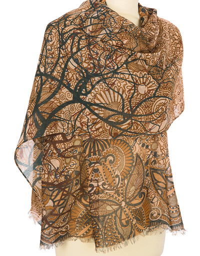 Shawl Wrap ''Fairy forest''