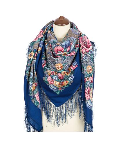 Wool shawl ''Floral Symphony''