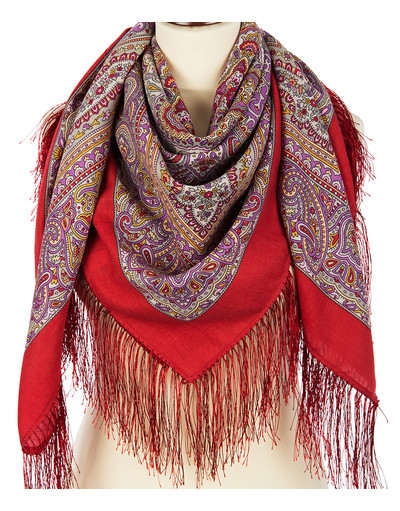 Wool shawl ''Northern Lights''