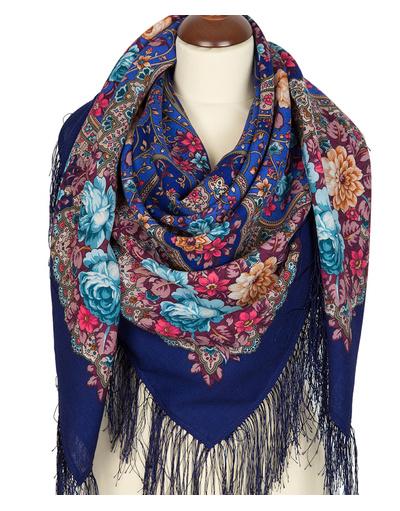Wool shawl ''The Glorious Future''