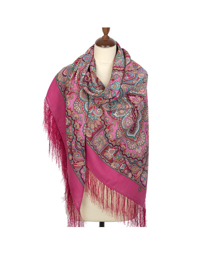 Wool shawl ''Beauty Queen'' pink