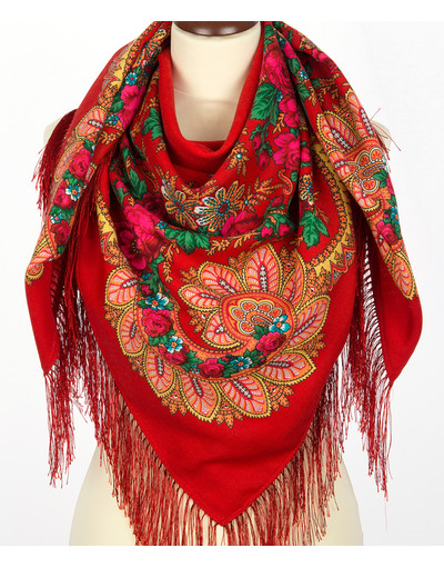 Wool shawl ''Flower fan''