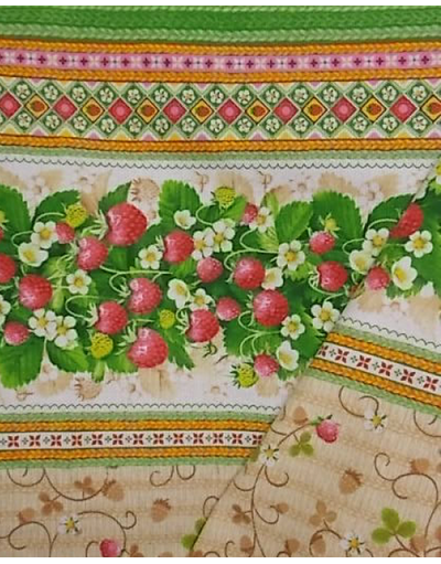 {[en]:Ukrainian embroidery fabric Wild strawberry}