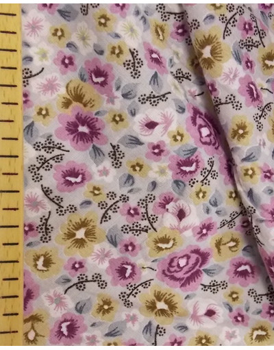 Russian pattern cotton fabric ''Lilac flowers''