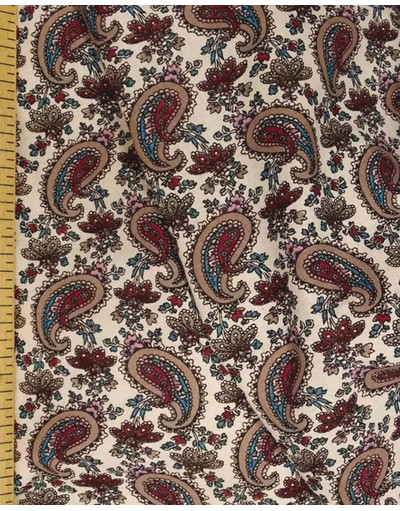 {[en]:Bohemian fabric by the yard Burgundy Oriental cucumbers}