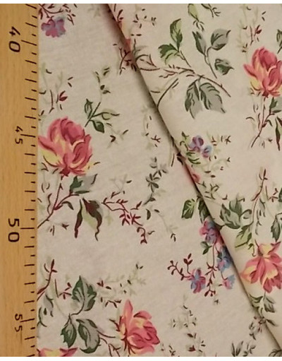 {[en]:Russian pattern cotton fabric The branch of roses}