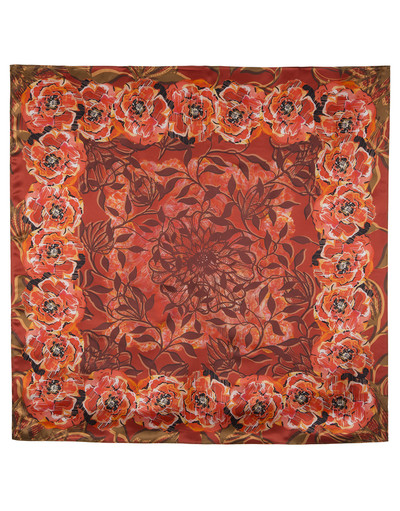 Silk shawl ''The poppies''