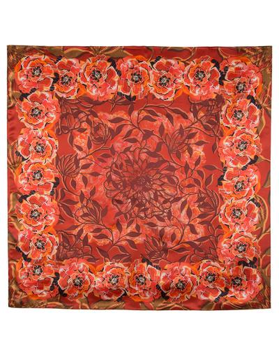 Silk shawl ''The poppies''
