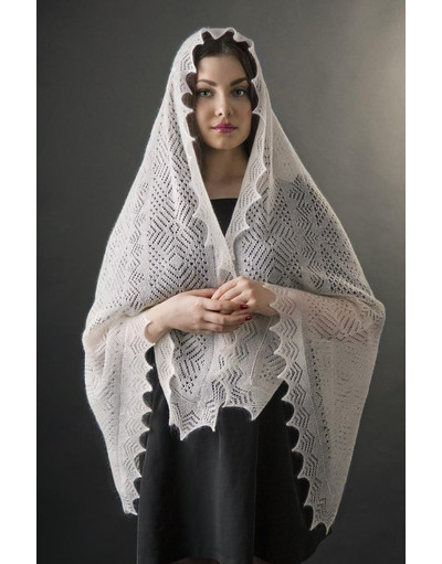Russian lace shawl ''Elegance''