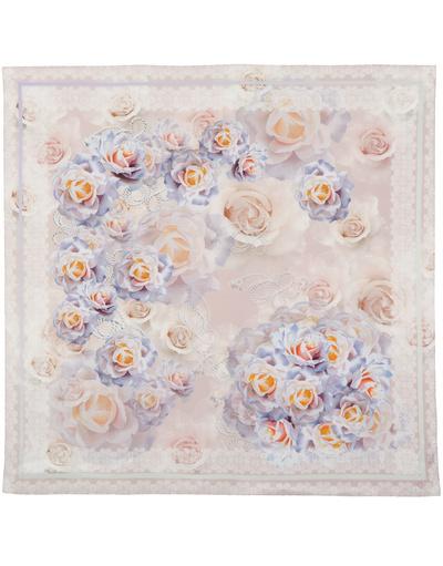 Silk shawl ''Elegant roses''